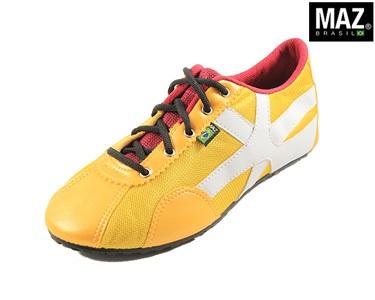Ténis  Maz® Brasil   Amarelo com Branco e Vermelho