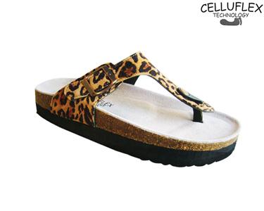 Sandálias Celluflex | Melhore a sua Silhueta | Eole - Leopardo