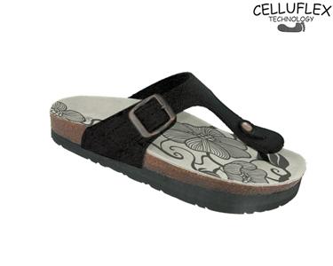 Sandálias Celluflex | Melhore a sua Silhueta | Eole - Preto