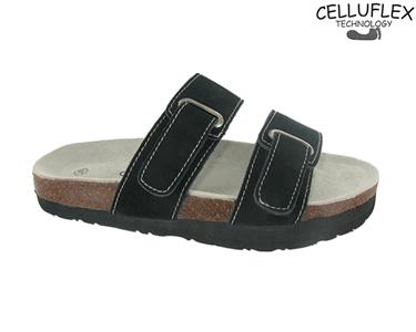Sandálias Celluflex | Melhore a sua Silhueta | Minos - Preto