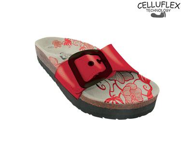 Sandálias Celluflex | Melhore a sua Silhueta | Atlas - Vermelho