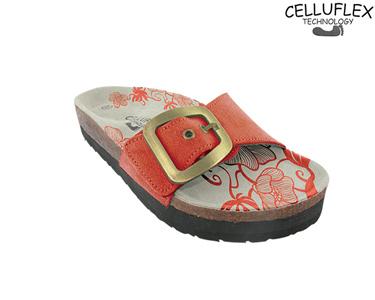 Sandálias Celluflex | Melhore a sua Silhueta | Atlas - Laranja