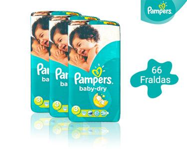 66 Fraldas Pampers Baby Dry Midi | T3 4-9 Kg