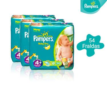 54 Fraldas Pampers Baby Dry Midi | T4+ 9-20 Kg