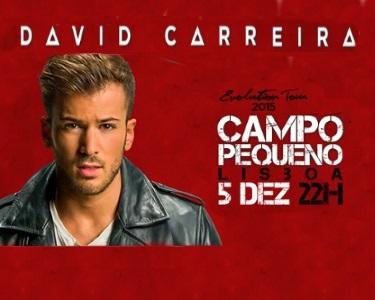 David Carreira - «Evolution Tour 2015»   05 Dezembro   Campo Pequeno