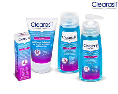 Kit Clearasil® Ultra Exfoliante + Creme + Gel de Limpeza  + Tónico
