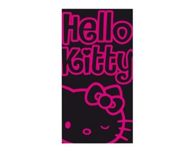 Toalha de Praia Preto-Rosa   Hello Kitty
