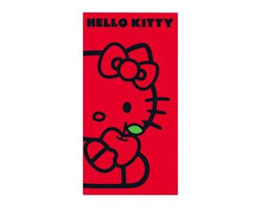Toalha de Praia  Vermelha   Hello Kitty