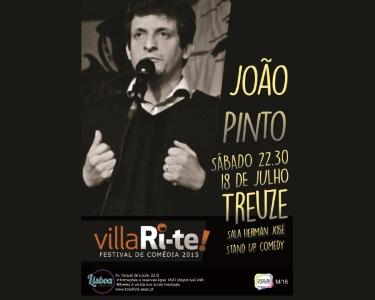 «Treuze» de João Pinto | 18 de Julho | VillaRi-te | Lisboa Comedy Club