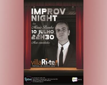 «Improv Night» com Mário Bomba   10 Julho   Lisboa Comedy Club