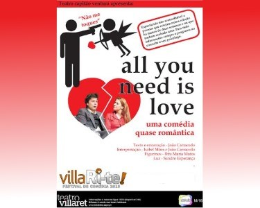 «All You Need Is Love» | 18 ou 25 Julho | VillaRi-te | Villaret