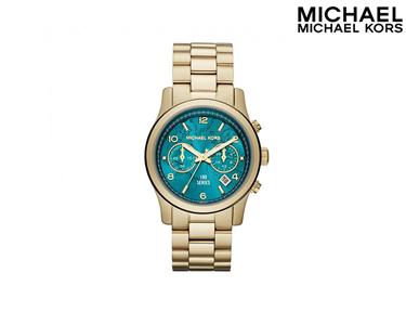 Relógio Mickael Kors® | Dourado & Turquesa