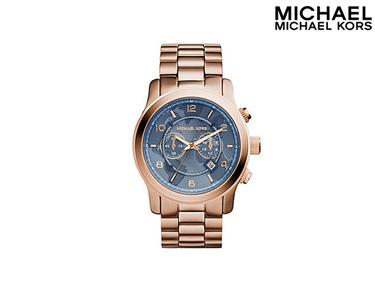 Relógio Mickael Kors® | Rose Gold e Azul