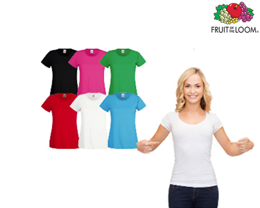 Conjunto 6 T-shirts Senhora  Fruit of the Loom®