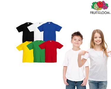 Conjunto 6 T-shirts Crianças Fruit of the Loom®