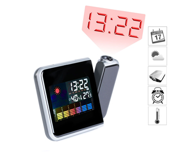 Relógio Despertador Multifunções | Com Luz Led & Projector