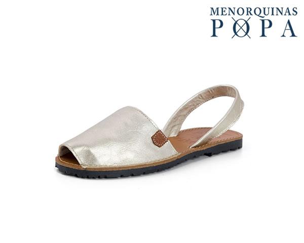 Menorquina® em Pele | Liso Prata