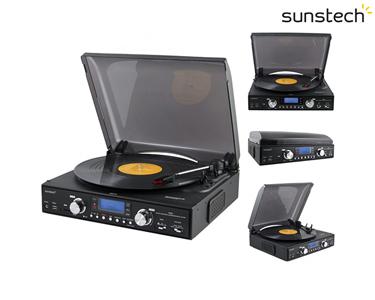 Gira-Discos Conversor de MP3 | 3 Velocidades