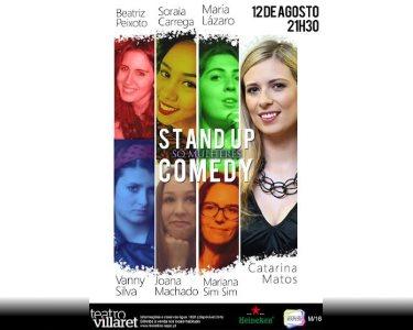 «Só Mulheres» - 12 de Agosto | Stand-Up Comedy no Teatro Villaret
