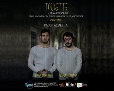«Tourette» - Stand-up Comedy | 1 de Agosto  | VillaRi-te | Lisboa Comedy Club