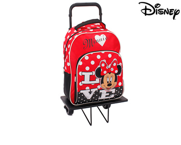 Mochila com Trolley 38 cm Minnie | Sweet Red