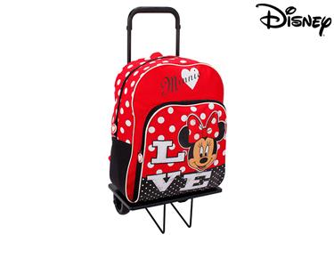 Mochila com Trolley 41 cm Minnie | Sweet Red