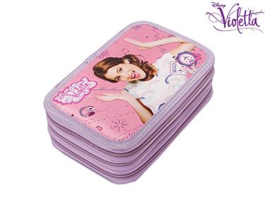 Estojo Completo Triplo 19 cm | Violetta Satin
