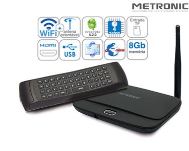 Mini PC/TV Box Android Full HD + Air Mouse Giroscópio