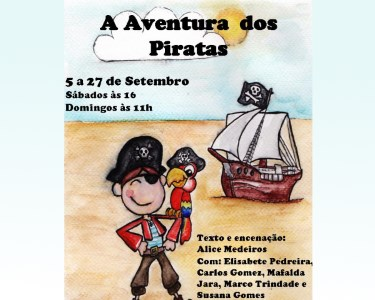 «As Aventuras dos Piratas» - Bilhete Duplo no Teatro Turim