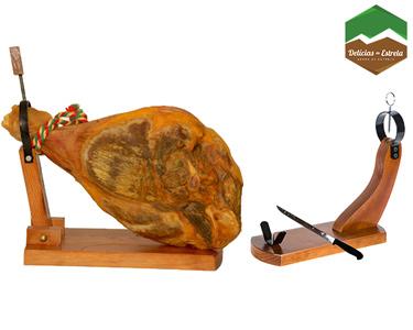 Presunto Inteiro C/Osso 6,5Kg + Suporte + Faca + Caixa Gourmet