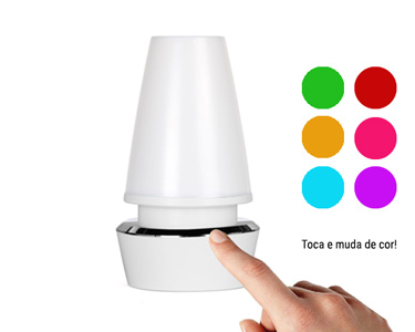 Candeeiro LED Multicolor USB | Touch Motion