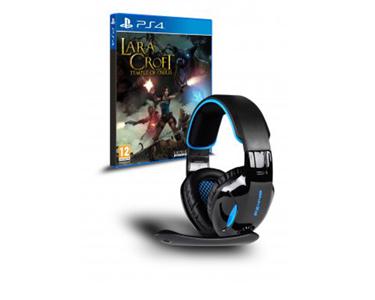 Jogo PS4 Lara Croft & Too + Auscultador Px440