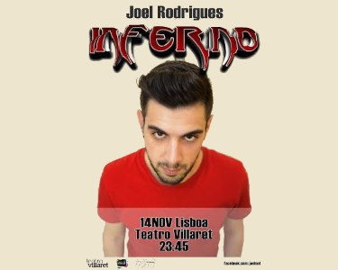 «Inferno» de Joel Rodrigues | 14 de Novembro | Teatro Villaret