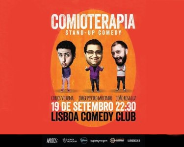 «Comioterapia» Stand-up Comedy | 19 de Setembro | Lisboa Comedy Club