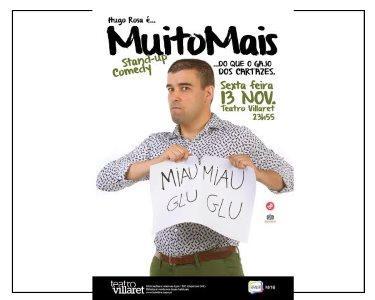 «Muito Mais Que o Gajo dos Cartazes» Hugo Rosa | 13 Novembro | Villaret