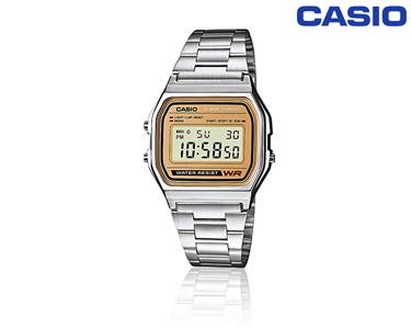 Relógio Casio® Prateado & Dourado