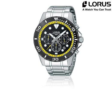 Relógio Lorus® Clássico para Homem   Preto e Amarelo