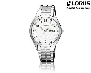 Relógio Lorus® Clássico para Homem | Prateado e Branco