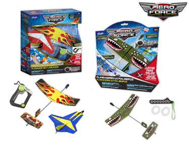 Aviões Ultra-Leves Aero Force | Set 2 Aviões + Lançador