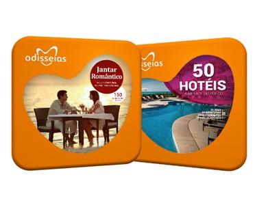 2 Presentes: Jantar Romântico e 50 Hotéis a Metade do Preço