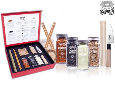 Sushi Box Premium | 6 Acessórios + 4 Frascos de Especiarias