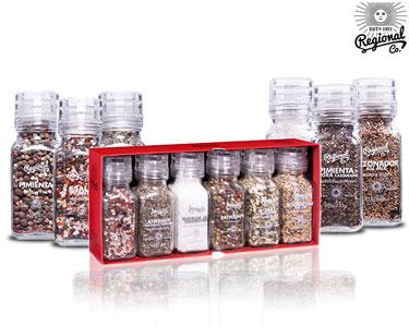 Pack 6 Frascos de Especiarias Premium