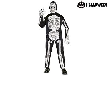 Disfarce de Esqueleto Ossos com Relevo | Adulto