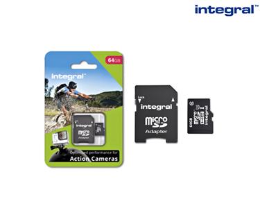 Cartão Micro SDHC 4K Recomendado p/ Câmaras Desportivas | 32GB ou 64GB