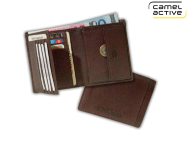Carteira Camel Active® ao Alto | Porta Cartões, Notas e Moedas