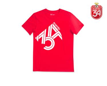 T-Shirt Vermelha Bicampeão   34 Lado