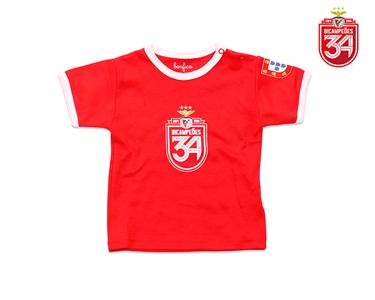 T-Shirt Vermelha Bicampeões