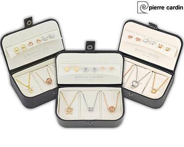 Caixa c/ 3 Conjuntos de Jóias Pierre Cardin® | Banhado a Prata ou Ouro