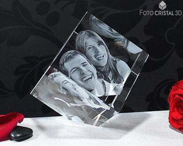 Cubo de Cristal com Foto 3D | 1 ou 2 Pessoas