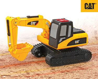 Veículos Construção 15 cm Luz e Sons | Escavadora CAT®